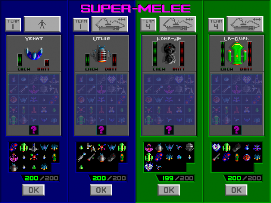 The AI's difficulty buttons are inspired from SC1. Maximum points is 200.