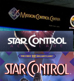 Mission Control Center font in comparison to the fonts for the Genesis and PC versions of Star Control