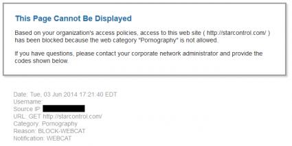 URL Blocked
